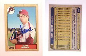 Tom-Hume-Signed-1987-Topps-719-Card-Philadelphia-Phillies-Auto-Autograph