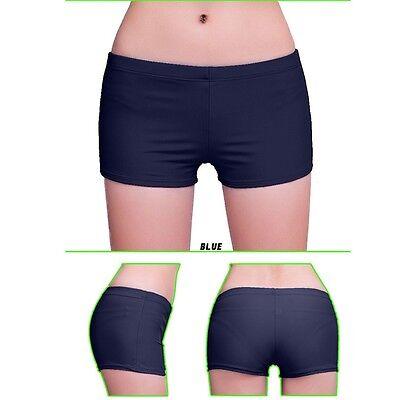 NEW Women Plain Swim Shorts Bikini Swimwear Beach Short Brief Knickers Bottoms B