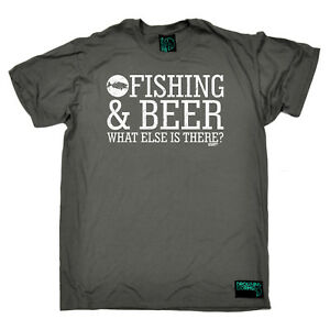 Fishing-T-Shirt-Funny-Novelty-Mens-tee-TShirt-Fishing-And-Beer-What-Else-Is-Th