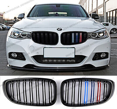 3D M Styling 3 Colors Front Grille Trim Motorsport Stripes Grill Cover Performance Stickers 3Pcs 11 Grilles for 13-17 BMW 3 Series GT F34