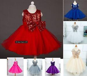 Vestito-Cerimonia-Feste-Natale-Party-Girl-Princess-Christmas-Dress-CDR015