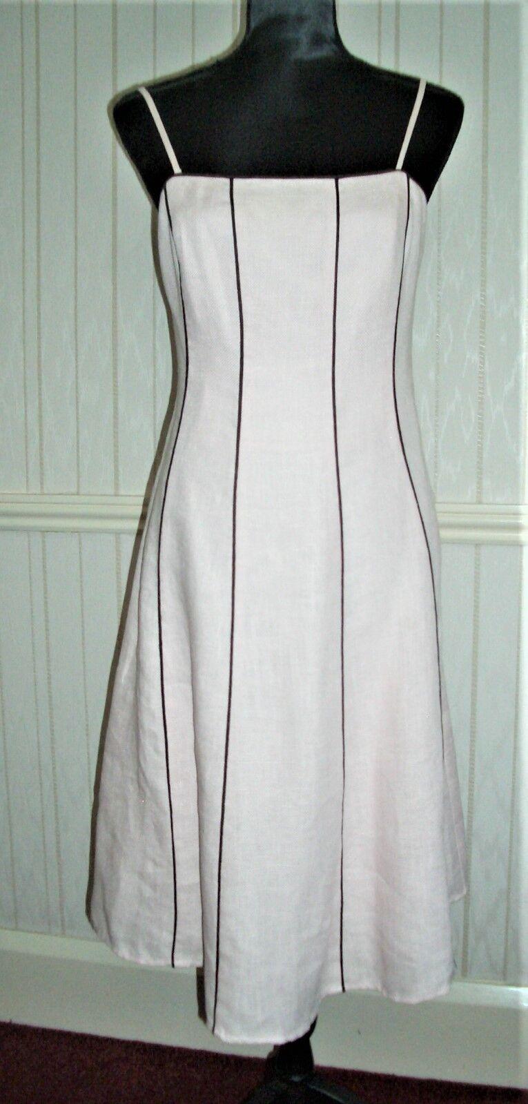 Fen Wright Mason Ladies Pale Pink Linen Dress Size 12