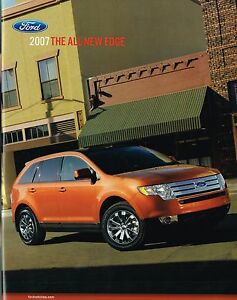Image Is Loading  Ford Edge Brochure Catalog With Color Chart