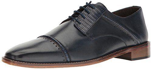 Size 9M Stacy Adams Uomo RYLAND CAP TOE OXFORD dark Blue Pelle dress Shoes 9 D