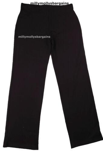 New Womens Marks /& Spencer Black Joggers Size 24 18 14 10 Long Medium