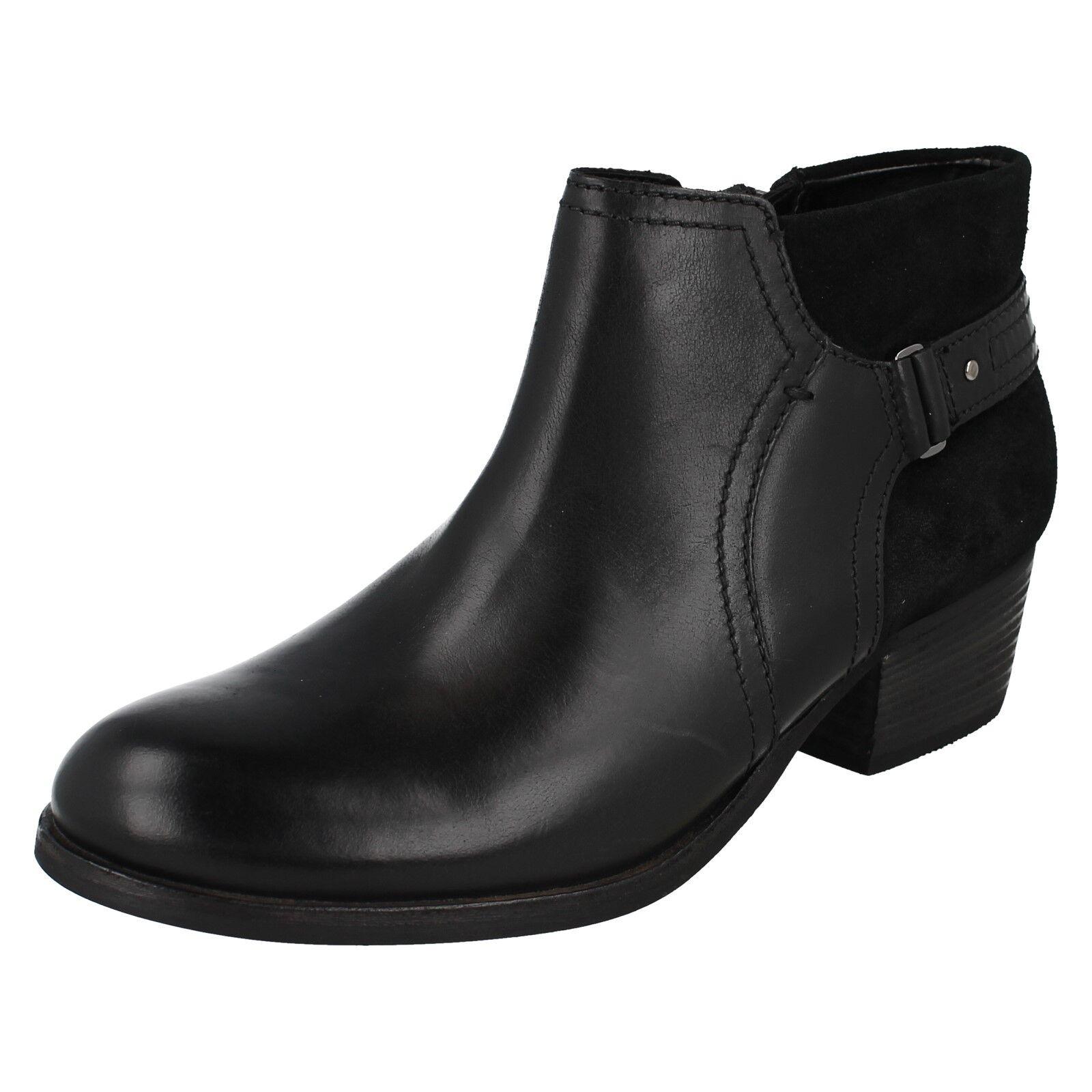 Damen Clarks Stiefeletten Reißverschluss mittelhoch Leder Freizeit Stiefeletten Clarks Schuhe 8dbfc9
