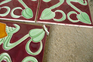 Fliesen Jugendstil Art Nouveau Kachel 1 Stuck Gebrochen Motiv Nr 19