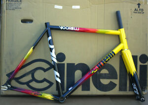 Cinelli-Vigorelli-Track-Fixed-Gear-Single-Speed-frame-and-fork-Size-Large-New