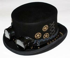 041de8344ce575 STEAMPUNK VICTORIAN GOTHIC Wool Men MAD HATTER TOP HAT 5