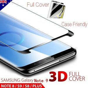 3D-Samsung-S9-S8-Plus-Note-9-8-Tempered-Glass-Full-Cover-Screen-Protector-LEC