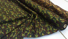 CAMO PRINT GREEN COTTON POPLIN FABRIC : SELLING BY THE 1/2 MTR : #9934G