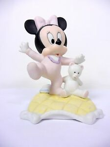 Disney-Figurine-Porcelain-Baby-039-s-First-Step-Minnie-Mouse-by-Goebel