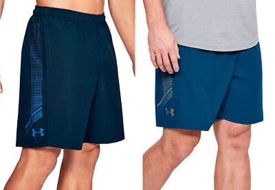 WOVEN GRAPHIC SHORTS S M L XL BLUE NEW NWT UNDER ARMOUR UA MEN/'S 8-in