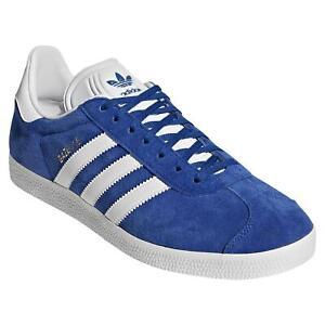 adidas-ORIGINALS-MEN-039-S-GAZELLE-TRAINER-SHOE-BLUE-TREFOIL-RETRO-VINTAGE-NEW