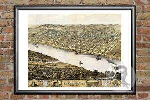 Old-Map-of-Leavenworth-KS-from-1869-Vintage-Kansas-Art-Historic-Decor