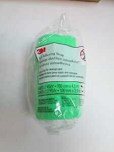 3M-Self-Adhering-Vet-Bandage-Wrap-Dogs-Cats-Horses-4-034-x-5-yds-Tears-to-Length