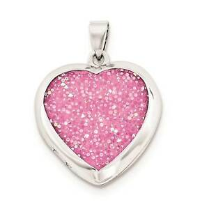 925-Sterling-Silver-Polished-Pink-Crystals-Heart-Locket-Charm-Pendant