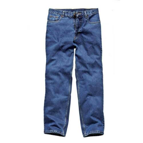 Dickies Mens Stone Washed Workwear Jeans Blue WD1693B