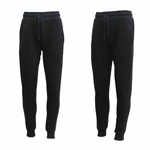 Mens Fleece Jogger Track Pants Pockets Cuffed Hem Trackies Sweat Pants
