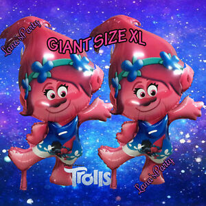 XL New Trolls Troll Princess Poppy balloons cupcake toppers banner table cover!