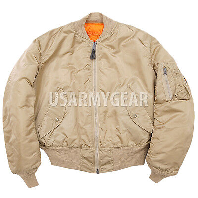 low priced 18c95 3a6e7 New US Made MA-1 Alpha Industries US Army Pilot Flight Military Bomber AF  Jacket | eBay