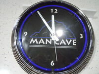 Neon Man Cave Wall Clock In Box