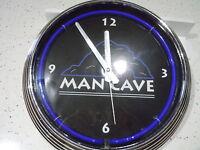 Neon Man Cave Wall Clock In Box