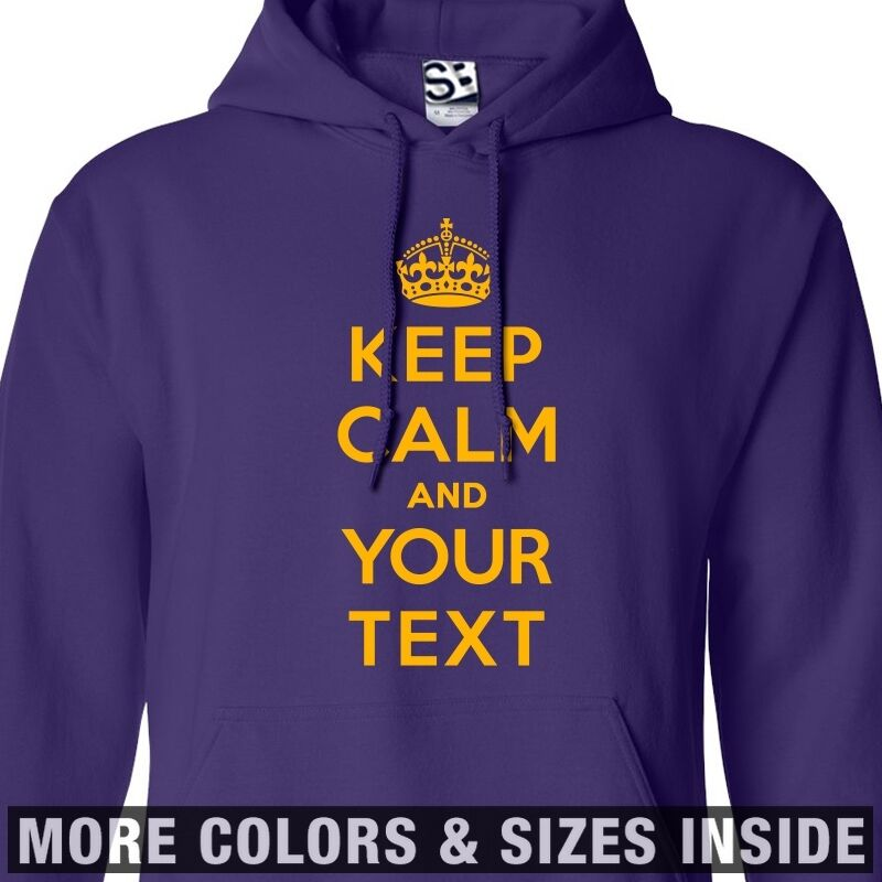 Custom Keep Calm HOODIE Personalized and Carry On Sweatshirt  All Größes & Farbes