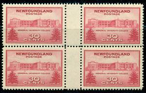 NEWFOUNDLAND-SCOTT-267-GUTTER-BLOCK-MINT-OG-NH-GREAT-PRICE