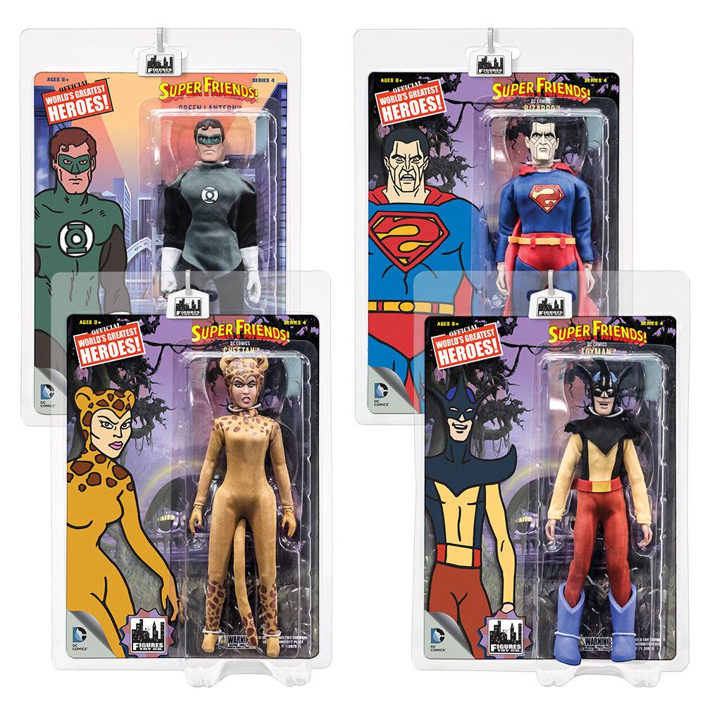 Super - freunde retro - mego stil actionfiguren - serie 4  4 von seiten aller