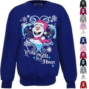 Ninos-Navidad-Festivo-Frozen-Muneco-de-nieve-olaf-nina-forro-polar-jersey