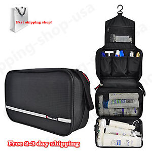 Dopp-Kits-For-Men-Hygiene-Travel-Bag-Toiletries-Shaving-Case-Black-Organizer