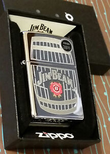 Zippo 28421 Jim Beam Barrel Etched NEW Windproof Lighter Free Shipping