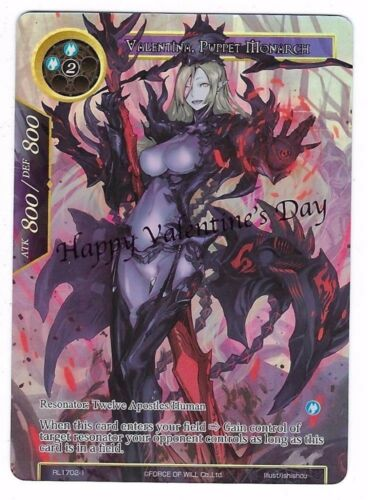 Force of Will 1x Valentina Puppet Monarch Full Art Valentine/'s Promo NM RL1702-1