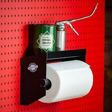New Listingpegboard Paper Towel Holder With Peg Board Shelf By Madd Tools Black Pegboard