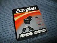 Energizer Iphone Ipad Ipod Pc-1cat Cell Phone Usb Car Charger Adapter