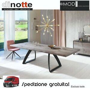Tavolo Allungabile Moderno Cucina Sala Da Pranzo Piano Legno Bridge Om 243 Fg Ebay