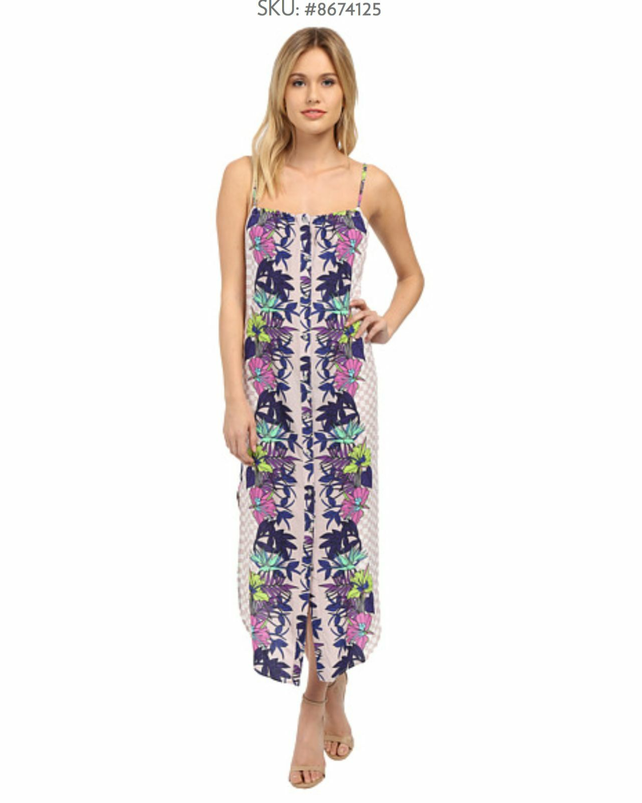 NWT Mara Hoffman Jardin Majorelle stone dress easy  size S and M   -
