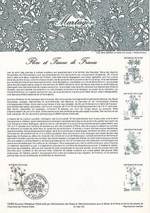 Document-Philatelique-Timbre-1er-Jour-23-04-1983-Flore-amp-Faune-Martagon