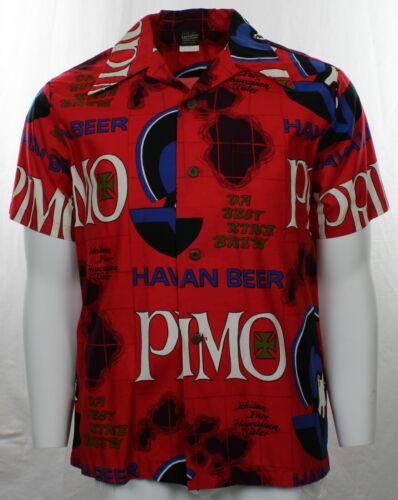 Vintage Blue Primo Beer Loop Collar Hawaiian Shirt by Hawaiian Holiday Like New