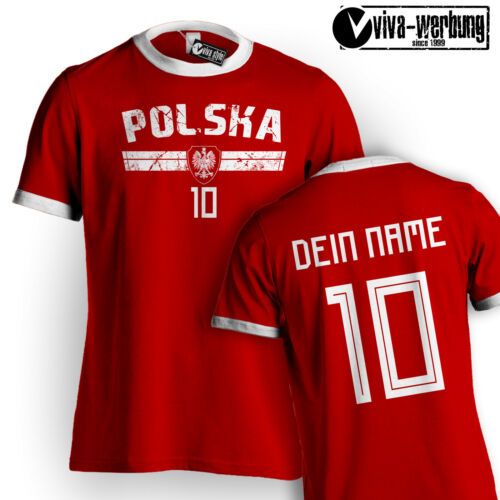 WM tshirt 2018 calcio con NOME /& NUMERO MAGLIA GERMANIA Islanda Hrvatska Polonia