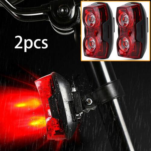 2PCS LED MOUNTAIN BIKE BICYCLE FRONT REAR LIGHTS SET PUSH CYCLE LIGHT CLIP SET