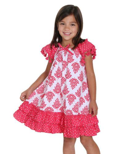Jelly The Pug 2016 Boho Allie Woven Dress Toddler /& Girls 2T,3T,4,7,12
