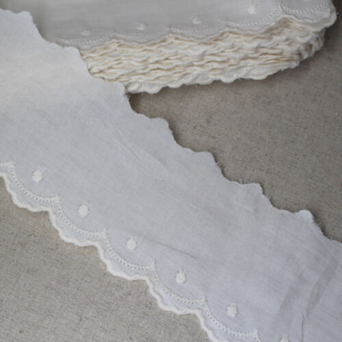 """2.6/"""" 14Yds Broderie Anglaise cotton eyelet lace trim 6.5cm YH1352 laceking2013"""