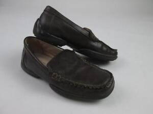 96dcbf823cb NORDSTROM KIDS BOYS BROWN LEATHER SLIP-ON LOAFERS DRIVERS SHOES SZ ...