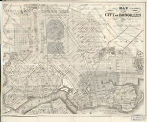1864-Map-of-the-city-of-Brooklyn-Administrative-and-Political-Divisions-Broo