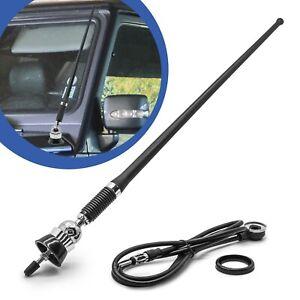 Universal-RMA-305-DIN-Auto-Stab-Gummi-Chrom-Flex-Dach-Antenne-Radio-AM-FM