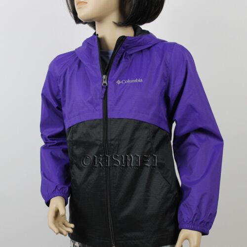 "New Girls Columbia /""Wind Winner/"" Omni-Shield Wind-Blocking Hooded Rain Jacket"
