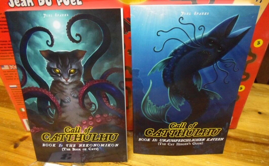 Call of Catthulhu RPG Book 1 & Book 2 Call Of Cthulhu With Cats