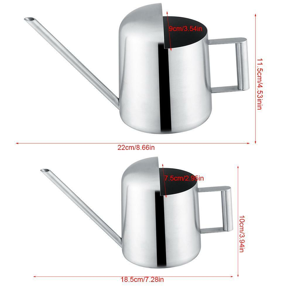 Stainless Steel Watering Can Garden Plant Flower Long Mouth Sprinkling For Home